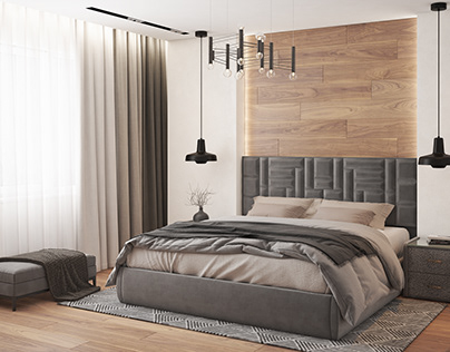Gray bed for catalog
