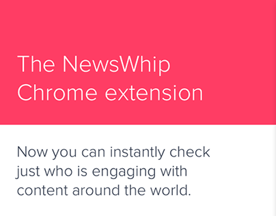 Newswhip Chrome extension