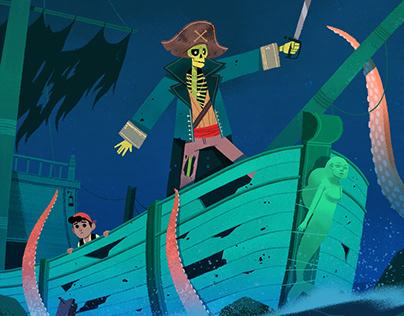 Ship Of Bones // Children Books illustration