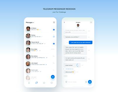 Redesign Telegram Messenger App