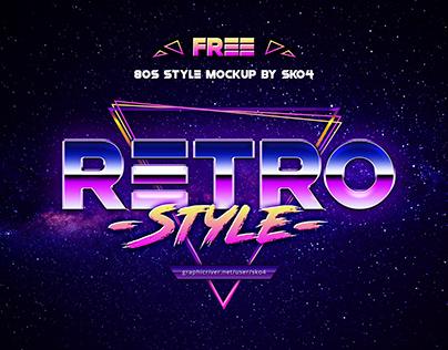 FREEBIE!!! 80s Retro Vibe - Free Mockup