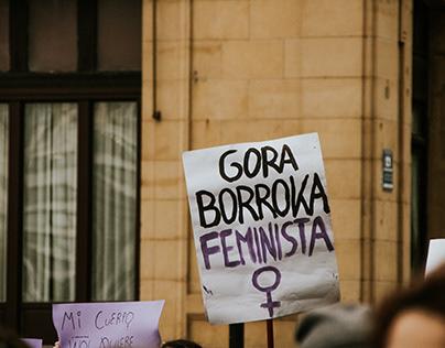 Manifestación 8-M en Donostia