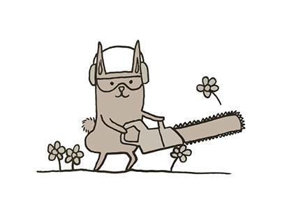 Butt Bunny Illustration