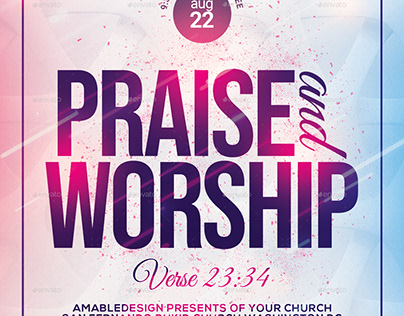 Praise and Worship Church Flyer/Poster