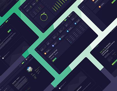 GeoClique Crypto Currency Platform UX UI Design