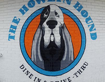 Howlin' Hound Mural