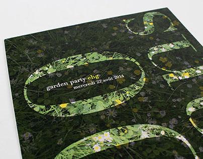 Flyer pour une Garden Party