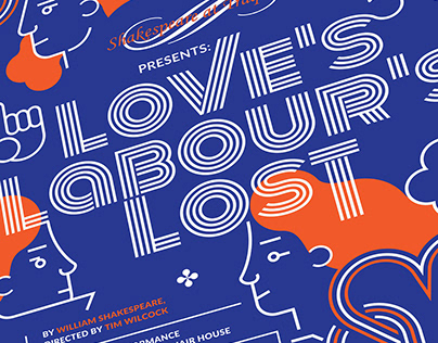 LOVE'S LABOUR'S LOST / POSTER / SHAKESPEARE AT TRAQUAIR