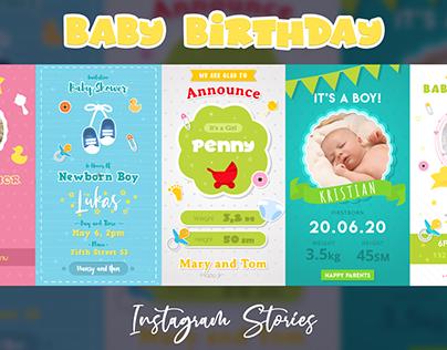 Baby Birthday Instagram Stories