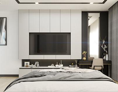Modern Master Bedroom (GreenFourProject)