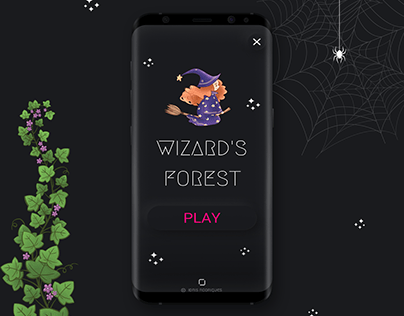 Wizard's Forest - Android Game ( Neumorphism - Soft UI)