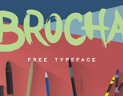 BROCHA - Free Typeface