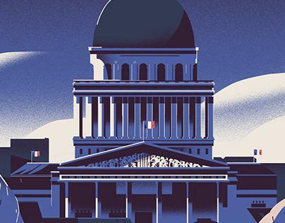 Panthéon, minuit