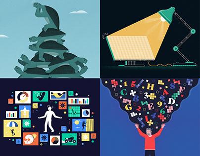 Insights Puzzle Illustrations / Quanta
