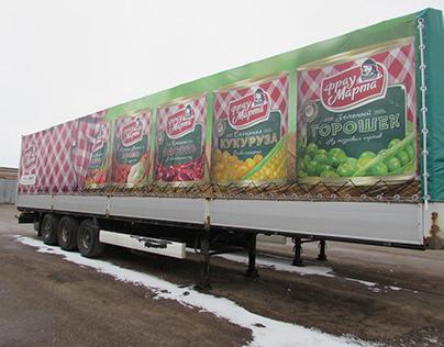 Frau Marta's truck advertising