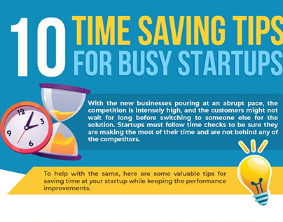 [Infographic] Time Saving Tips For Busy Startups