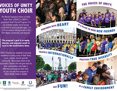 The Voices of Unity Youth Choir 4 Panel Brochure