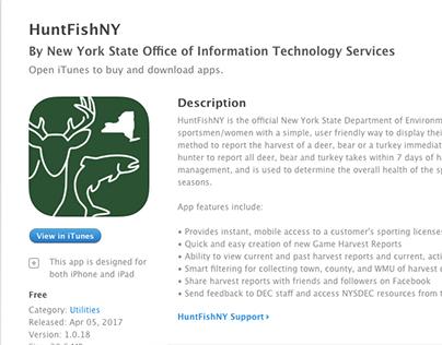 HunytFishNY App Icon Design