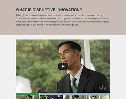 Disruptive Innovation - Microsite