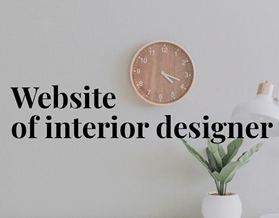 Concept of website of interior designer