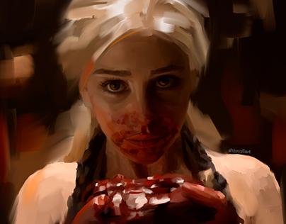 Game of Thrones. Digital portrait of Daenerys Targaryen