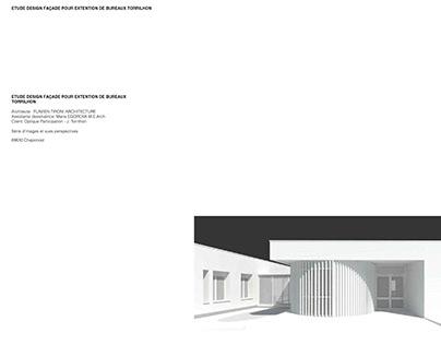 Etude design façade pour extention de bureaux Torrilhon