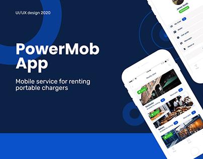 Mobile App for renting powerbank | PowerMob