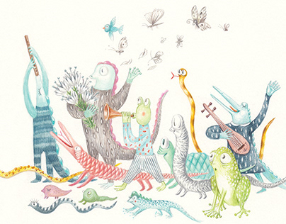 Stories from the Calendar/ Book Illustrations