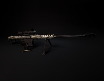3D Modeling: Barret M82