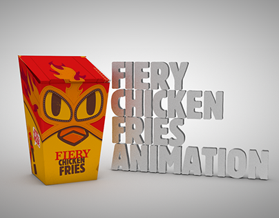 Fiery chicken fries animations