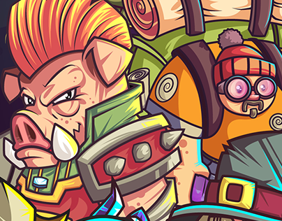 The Daring Heros | Game Design UI | Illustration
