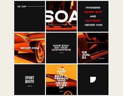 Sporty Qoute for Social Media Branding Post