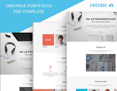 Onepage Portfolio Template Freebie