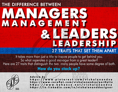 THE DIFFERENCE BETWEEN MANAGERS & LEADERS