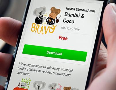 Bambú & Coco LINE Stickers