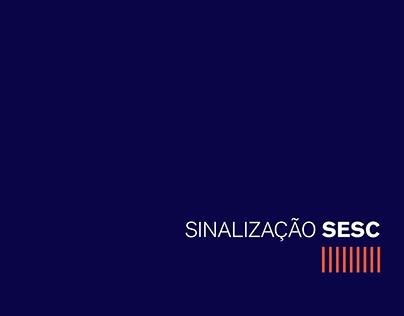Sinalização SESC