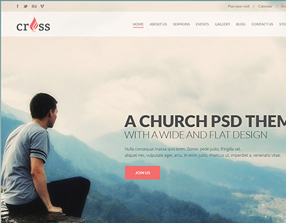Cross HTML Template