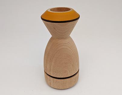 Form Replication: Lathe Tea Candle Holder