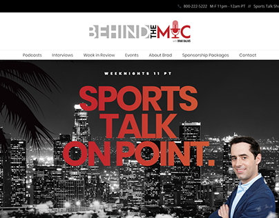 Web Design for Sports Talk Show