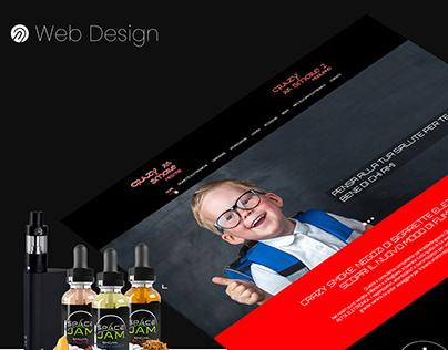 Vape Store Landing page - Smoking Websites -WebDesign