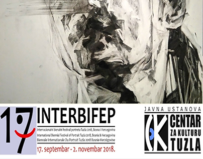 My work in 17th INTERBIFEP, charcoal on paper 70x50 cm