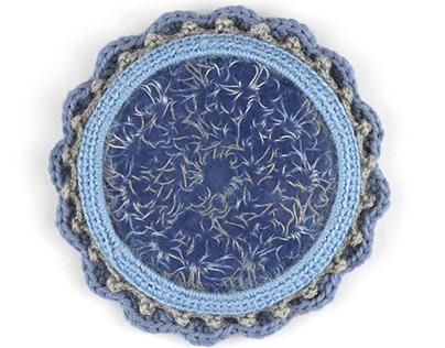 Embedded Crochet Brooch IV