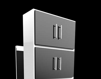 Projeto de armário para áreas pequenas