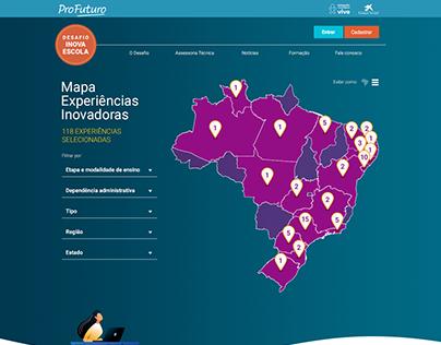 Mapa Experiências Inovadoras (Inova Escola)