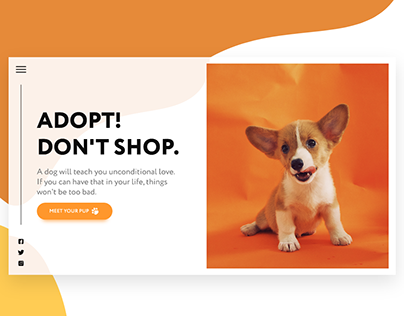 Puppy Adoption Campaign Landing Page