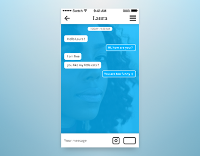 The Daily UI Challenge - Day #013 : Direct Messaging