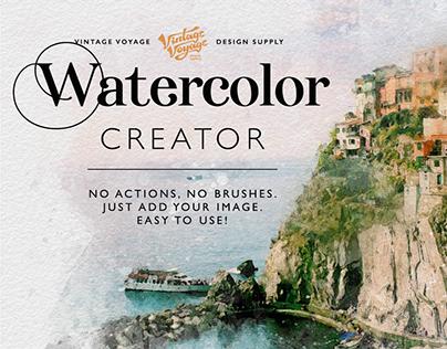 Watercolor Creator • PS Effect