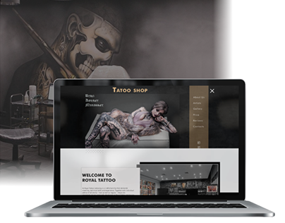 Website Tatoo shop. Web design and Mobile version