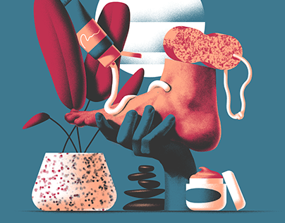 Two illustrations for Atlanta Magazine