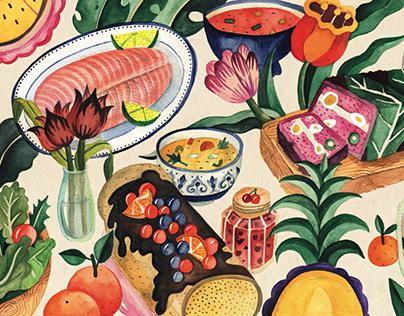 Illustrations for Air France magazine